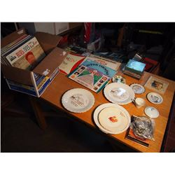 Box Full Of Records, Cds, Dishes (Grace United Church, Shell Lake)