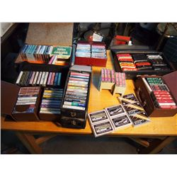Huge Lot Of Music Cassettes, Elvis, Meatloaf, Classical, Holiday