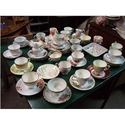 Lot Of Cups And Saucers, Some Matching