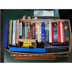 Box Of Books, Art Supplies, Knitting Supplies, Etc.