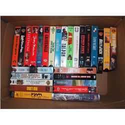 Box Full Of Vhs Tapes, Many Sealed