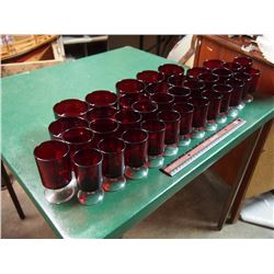 Lot Of Matching Ruby Glassware