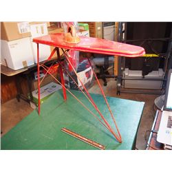 Toy Red Ironing Board And Iron