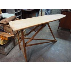 Wooden Ironing Board W/ Medicine Cabinet (No Back On Cabinet)