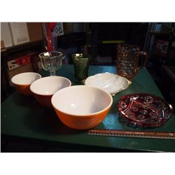 Assortment Of Glassware (Pyrex, And Assorted)