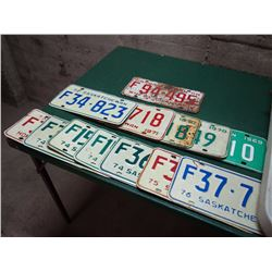 Box Of Licence Plates (69-76, One 1958)