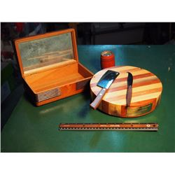 Saskatchewan Roughriders $100 Plate Dinner 1972, W/ Wooden Jewellery Box And Coin Bank