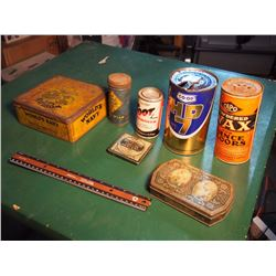 Lot Of Tins, Co-Op, Capo, Worlds Navy, Goodyear, Clean Right)