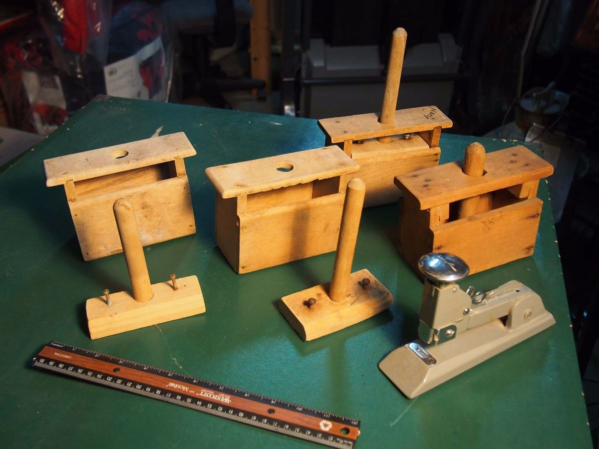 a59fa4e28123 Image 1   Butter Press Parts And Pieces (Not All Complete) W  Stapler