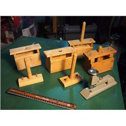 Butter Press Parts And Pieces (Not All Complete) W/ Stapler