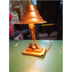 Working Curling Lamp W/ Lamp & Burner Parts And Pieces