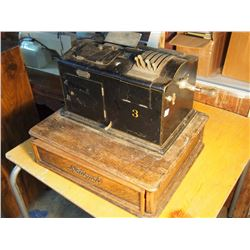National Two Part Cash Register