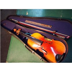 Violin W/ Case (Lark Shanghai China) W/ Wa-Wa Temple Song Sheet, Regina Sk