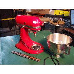 Red Kitchenaid Mixer