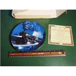 Knowles Collector Plate, The Empire Builder, The Romantic Age Of Steam Series