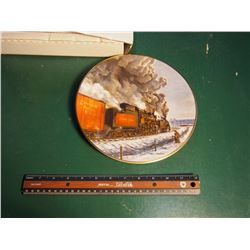 Christian Bell Porcelain Collector Plate, The Age Of Steam, Symphony In Steam Series