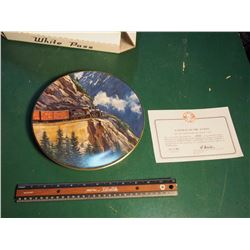 Christian Bell Porcelain Collector Plate, Gateway To The Yukon, The Age Of Steam Series