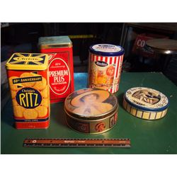 Lot Of Tins (Coca-Cola, Hawkins, Ritz, Christie's)