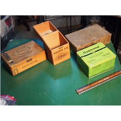 Lot Of Advertising Boxes