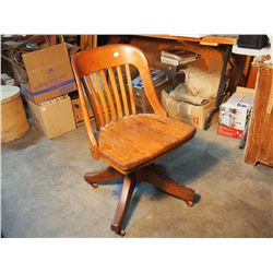 Wooden Office Chair On Wheels