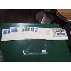 Lot Of 10 Canada Post First Day Covers (FDC's) Double Stamps, Strips Of 4, Vending Booklet Sheets, M