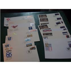 Lot Of 33 Canada Post First Day Covers (FDC's) Single Stamp Fdc'S