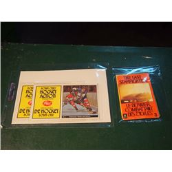 Bobby Orr's Hockey Action Transfers, Post Cereal, Lot Of 2 - #3 & #8, W/ The Last Starfighter, 1984