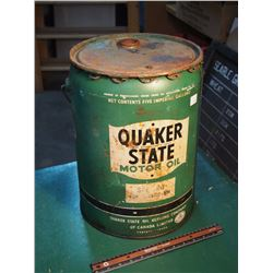 Quaker State Motor Oil, Sae 30W, Five Imperial Gallons