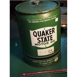 Quaker State Motor Oil, Sae 10W, Five Imperial Gallons