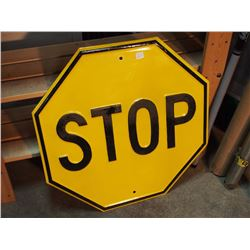 """Yellow Stop Sign, 24""""X24"""""""