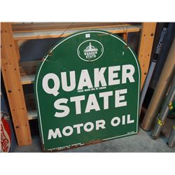 """Quaker State Motor Oil Sign, DS, 26""""X30"""""""