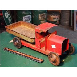 Red Metal Toy Truck