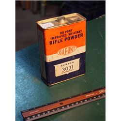 Dupont Rifle Powder Tin