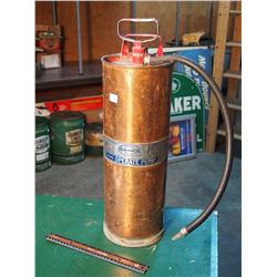 "General Fire Extinguisher Corp, Brass Fire Extinguisher, 20"" Tall"