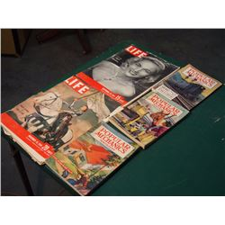 Life And Popular Mechanics Magazines 1940'S-50'S