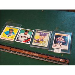 Hockey And Baseball Cards (4) (Matt William, Dwight Gooden, Marcel Dionne, Dave Keon)