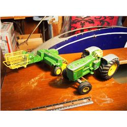 John Deere 5020 Tractor Toy And Bailer Attachment