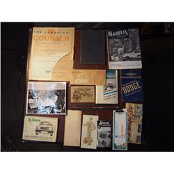 Lot Of Paper Related, Some 1915,1916, Some Manuals, Lots Of Misc