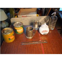 Lot Of Tins, Cups, Ets (Gm Buick, Argood, Etax, Okeefe)