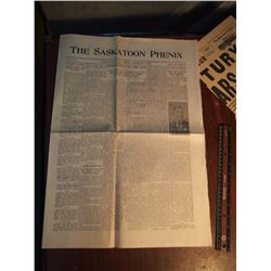 The Saskatoon Phenix, 1902, First Issue, W/ Other Misc. Print