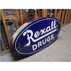 "Rexall Drugs Sign, 58""X28""X10"""