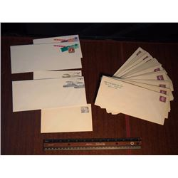 Canadian Pre-Stamped Envelopes (30) (25X3Cent, 1X5Cent, 2X34Cent, 2X40Cent)