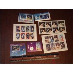 Space Related Postage Stamp Souvenir Sheets (7)