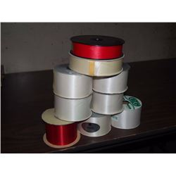 Large Lot Of Florists Ribbon (300 Yards Of 2 1/2 White, 100 Yards Of 1 1/2 White, 40 Yards Of 2 1/2