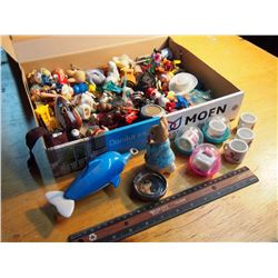 Box Full Of Knickknacks & Small Toys