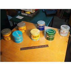 Lot Of Tobacco Tins (7) (Vogue, Players, Export, Etc)