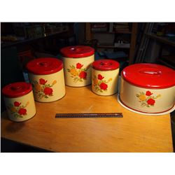 Matching Set Of Flour And Cake Tins