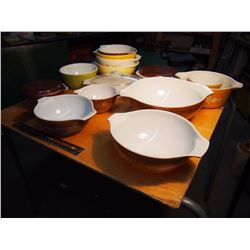 Assortment Of Unmatched Pyrex Bowls
