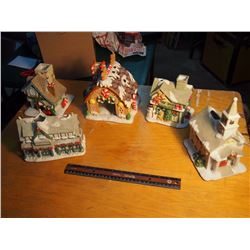 Lot Of Christmas Decorative Houses