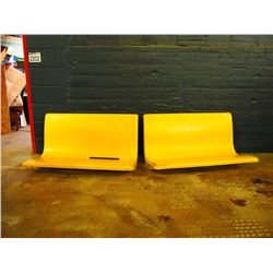 Fibreglass Restaurant Seats, From 1950's-60's (2 X The Money)
